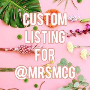 Custom listing for @mrsmcg